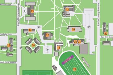 Campus Directions Missouri Valley College