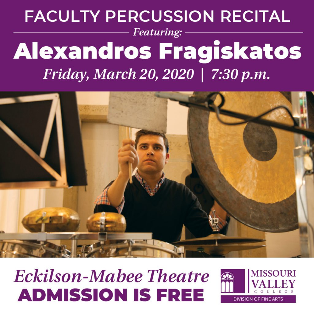 Faculty Percussion Recital by Alexandros Fragiskatos